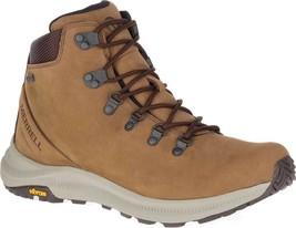 Merrell Ontario Mid Waterproof Hiker Boot (Men's) in Dark Earth Leather ... - $188.95