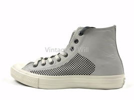 Converse x John Varvatos Men Chuck II Light Grey High Perforated Leather... - $74.10