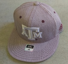 Adidas NCAA Texas ATM Aggies Football Hat Cap Flat Brim Sz L/XL - $20.00