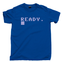 Commodore 64 Ready Screen T Shirt, Boot CPU Video Games Men's Cotton Tee Shirt - $13.99+