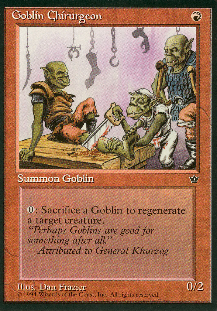 Magic: The Gathering - Fallen Empires - Goblin Chirurgeon (B)