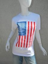 American Apparel T-Shirt Unisex White U.S. Flag Immigration Reform Now Sz XS - $18.55