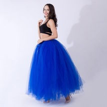 Adult Tutu Maxi Skirt Drawstring High Waist Party Tutu Tulle Skirt Petticoats  image 3