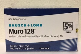 (New) Bausch - Lomb Muro 128 Ointment 5% 2-Pack - 7 g - $30.19
