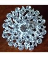 Silver Rhinestone Crystal Wedding Cake Brooch Pin Bow Decoration Bouquet - $1.65