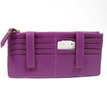 Neiman Marcus Women's ID Wallet Organizer Card Case Saffiano Leather. Lavender - $44.88