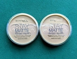 Lot 2 Rimmel London Stay Matte Long Lasting Pressed Powder Silky Beige 0.49 oz - $13.09