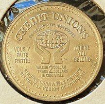 1984 Cornwall Ontario Token $2 Trade Dollar - Credit Unions Coin - $2.30