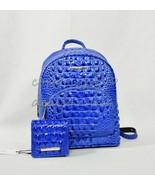 SET Brahmin Mini Dartmouth Leather Backpack + Jane Wallet in Cobalt Melb... - $339.00
