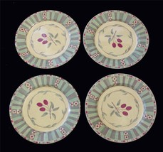 4 Sango MESA Cherries Southwest Design Salad / Dessert Plates EXC/NEW DISC - $23.99