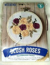 """LEISURE Arts- """"BLUSH ROSES"""" Weekend 10pc Embroidered Project - New open box - $12.00"""