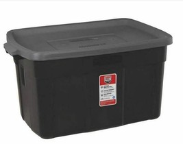 Rubbermaid Roughneck Tote Storage Box Container Black Lid, 31 Gallon - $64.35