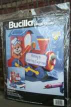 Bucilla 6119 Coloring Express Plastic Canvas Kit  Bear Train Unopened 1994 - $14.84