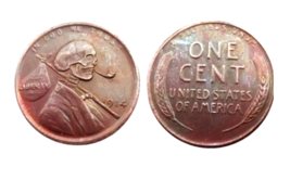 New Hobo Nickel Lincoln Pipe Skeleton Wheat Penny One Cent American Nick... - $11.99
