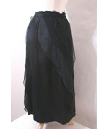CHAN LUU Skirt 100% Silk Black Lace Bias Cut Tiered NWOT S - $134.99
