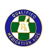 Qualified Medication Aide Lapel Pin  Graduation Recognition RX Medical 5... - $13.69