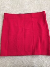 Women's Red Stretch Mini Skirt by Forever 21, Size Small, Black Lining Adorable  - $18.00