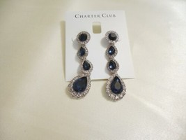 "Charter Club 2-3/8""Silver-Tone Circle Dangle Drop Earrings R727 $34 - $16.31"