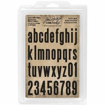 Tim Holtz Block Lower Cling Foam Alphabet and Numbers Stamps - 36 Pieces