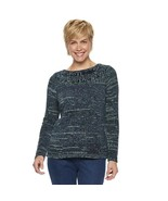 Women's Chenille Boatneck Sweater - Navy Blue Marled - Small - $40.00