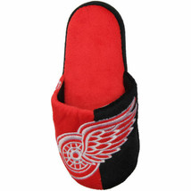 NHL Detroit Red Wings Hockey Split Color Slide Fan Slipper SD8022 Men's 7-8 NWT image 2