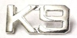 K-9 Canine Unit Silver Set of 2 Cut Out Letters Police Collar Pin Set Gold 2413N image 6