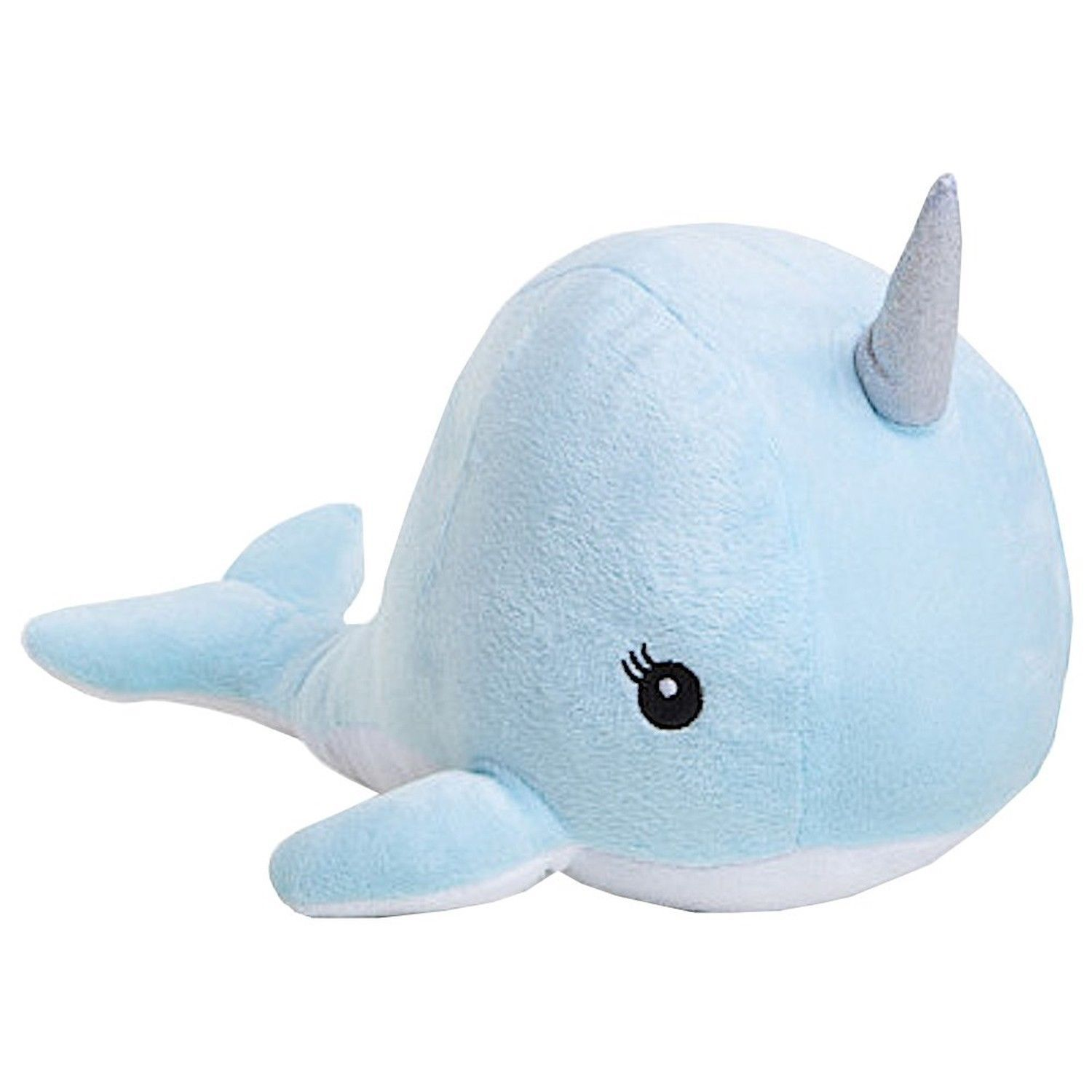 Room101 Narwhal Stuffed Animal Plush Blue 12""