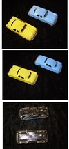 Tin Toy Car Lot Vintage Marx Japan Yellow Blue - $24.99