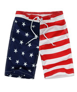 NEW 4th of July Patriotic Boys Stars Stripes Board Shorts Swim Trunks Sw... - $10.99