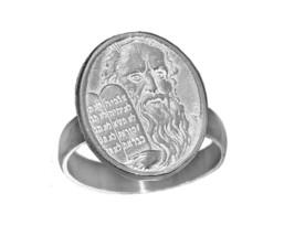 10 commandments Solid Sterling Silver 925 Ring Jewelry Ten Commandments ... - $30.63