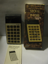 (MX-1) vintage Texas Instruments TI-1025 Memory Calculator - in orig. box - $9.00