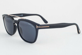 Tom Ford Holt Shiny Black / Gray Sunglasses TF516 01A - $234.22