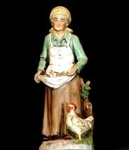 Figurine of Old Woman gathering eggs HOMCO 1434 AA19-1619 Vintage image 1