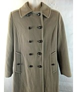 MackIntosh Women's 100% Wool Brown Peacoat Size 14 USA Made Double Breasted - $25.69