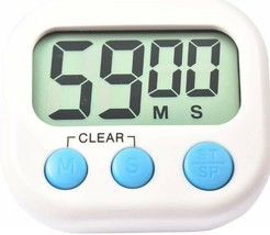 Digital Kitchen Timer,Alarm Cooking Magnetic Count-Down Up LCD,Loud Baki... - $9.89
