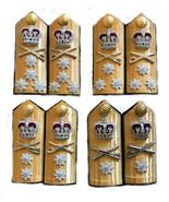 NEW UK ROYAL NAVY HARD SHOULDER BOARDS ALL ADMIRAL RANKS. CP MADE HI QUA... - $59.40+