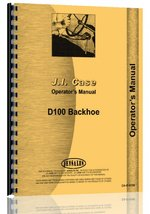 Case D100 Backhoe Attachment Operators Manual [Plastic Comb] [Jan 01, 20... - $25.63