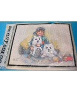 3D Paper Tole Art Craft kit Westie Dogs Picture by Suzanne Bright - $16.50