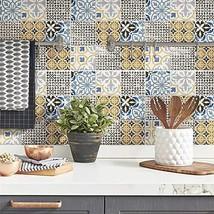 11.75x11.75-inch Porcelain Mosaic Floor and Wall Tile 10 Tiles/9.79 Sqft. Blue W
