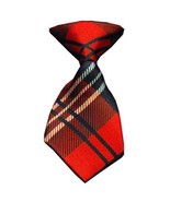 Red Plaid Neck Tie - $10.95