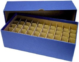 Guardhouse Coin Tube Storage Box, Heavy Duty - Nickel/Blue - $17.49