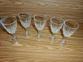 5 Cristal d'Arques 24% Lead Crystal Flamenco Stemmed Sherry/Cordial glasses - - $19.79