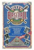 Baseball Upper Deck 1992  Edition 36 packs unopend box  - $38.87