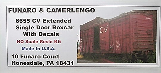 Funaro & Camerlengo HO CV single extended door boxcar  kit 6655