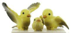 Hagen Renaker Miniature Canary Family Ceramic Bird Figurine Set of 3 image 10