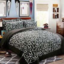 3D Alphabets 315 Bed Pillowcases Quilt Duvet Cover Set Single Queen King Size AU - $64.32+