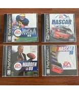Lot of 4 Sony PlayStation 1 (PS1) Games- NASCAR '01 & '98, Madden Footba... - $12.19