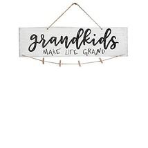 VORCOOL Creative Mini Wooden Hanging Grandkids Make Life Grand Wall Boar... - $15.61