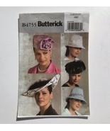 Butterick 4755 Ladies Hats Millinery Pillbox Bucket Cartwheel Uncut Patt... - $19.30