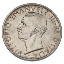 1927-R Italy Silver 5 Lire in AU Condition KM #67.2 - $29.70